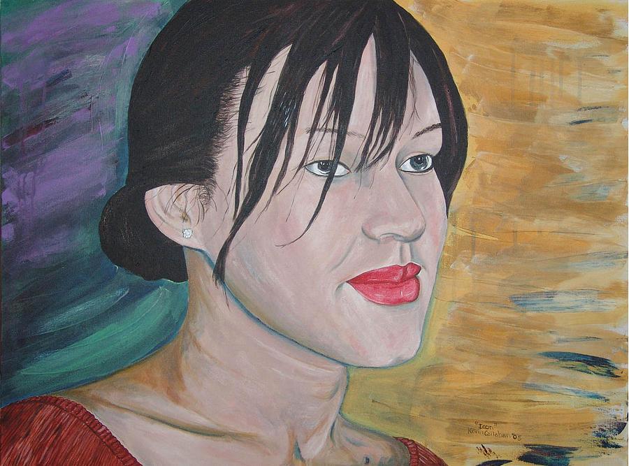 Kevin Callahan Painting - Marilyn-icon by Kevin Callahan