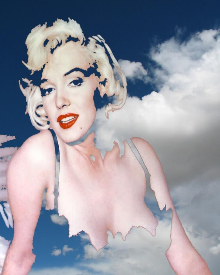 Marilyn In The Clouds Photograph by Frank Rozasy