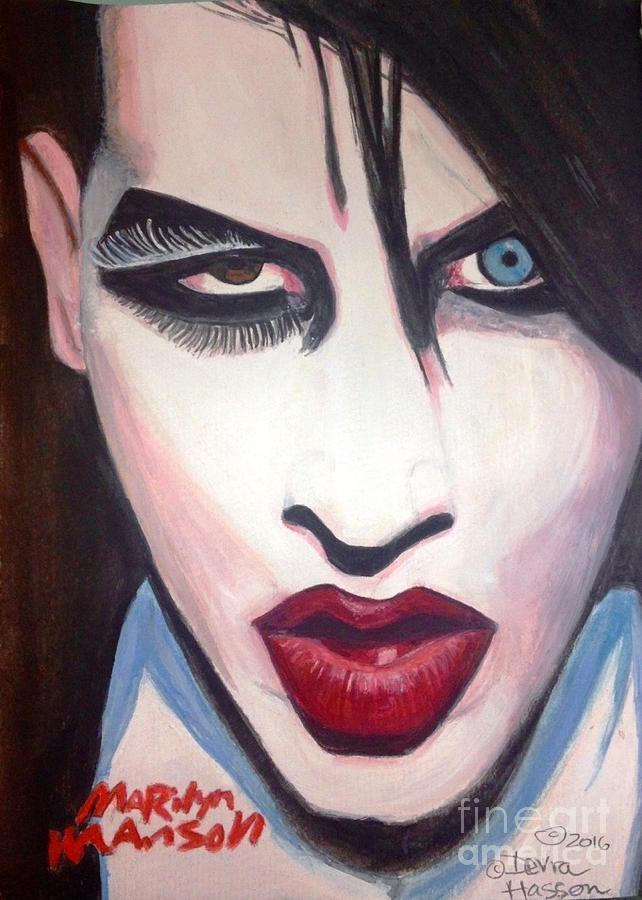 Marilyn Manson Painting By Devra Hasson