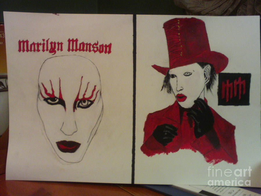 Marilyn Manson Painting - Marilyn Manson Paintings by Zach Rodgers