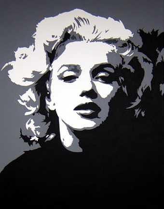 Paintings Painting - Marilyn  by Michael James  Toomy