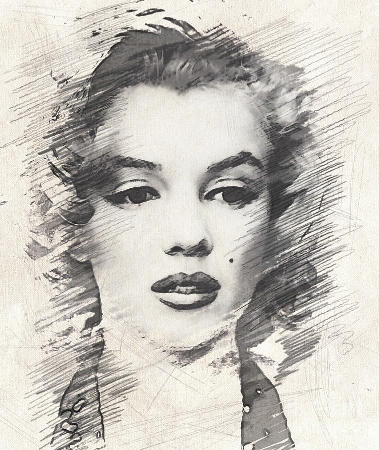 #marilyn Monroe, Actress And Model Drawing