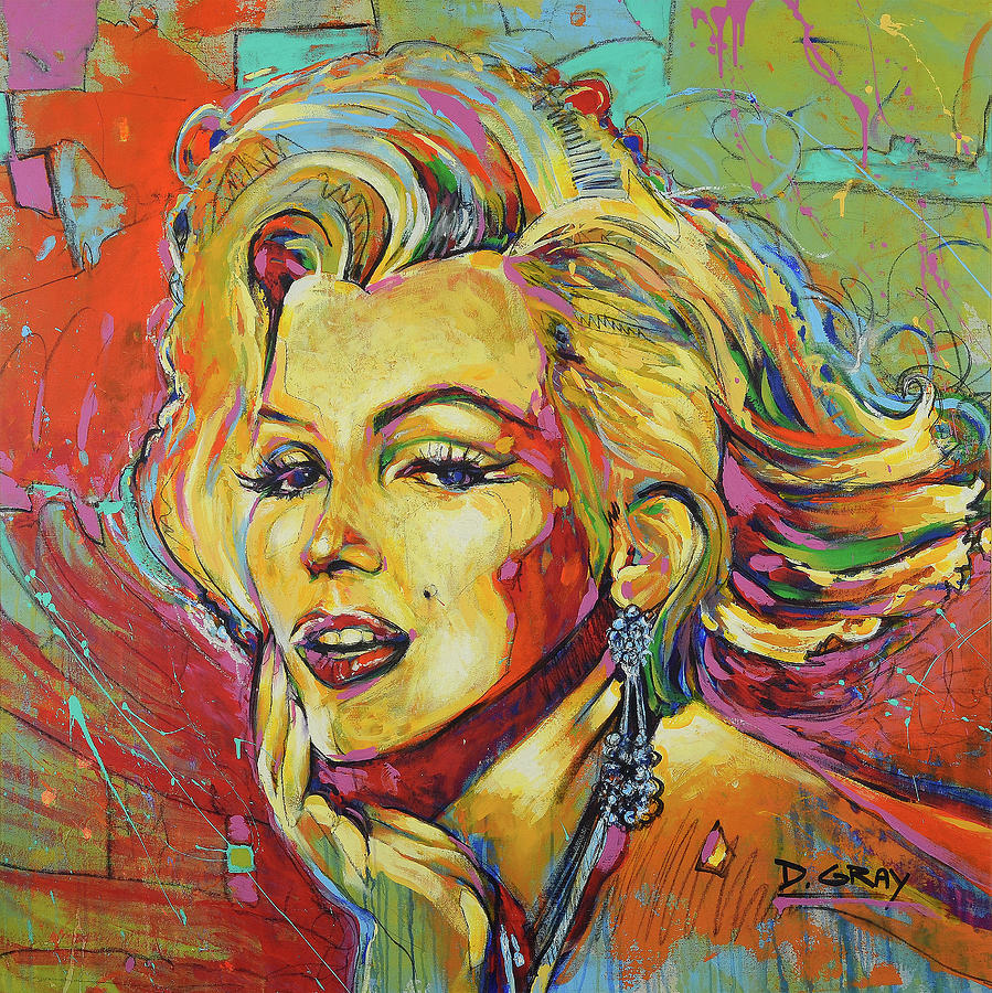 Marilyn Monroe Art Painting Print Canvas by Damon Gray