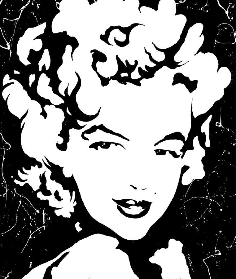 Portrait Painting - Marilyn Monroe by Curtiss Shaffer