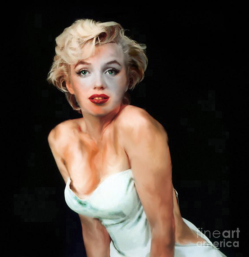 Faded Digital Art - Marilyn Monroe Faded by Simonne Mina