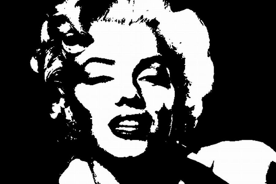Marilyn Monroe Graffiti Style Stencil Art Painting by ... Marilyn Monroe Face Stencil