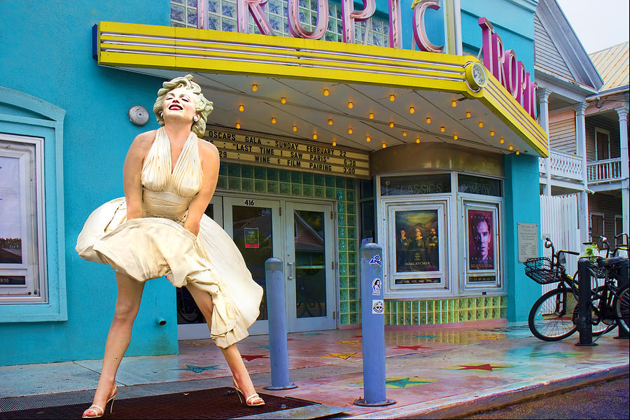 Marilyn Monroe In Front Of Tropic Theatre In Key West Photograph