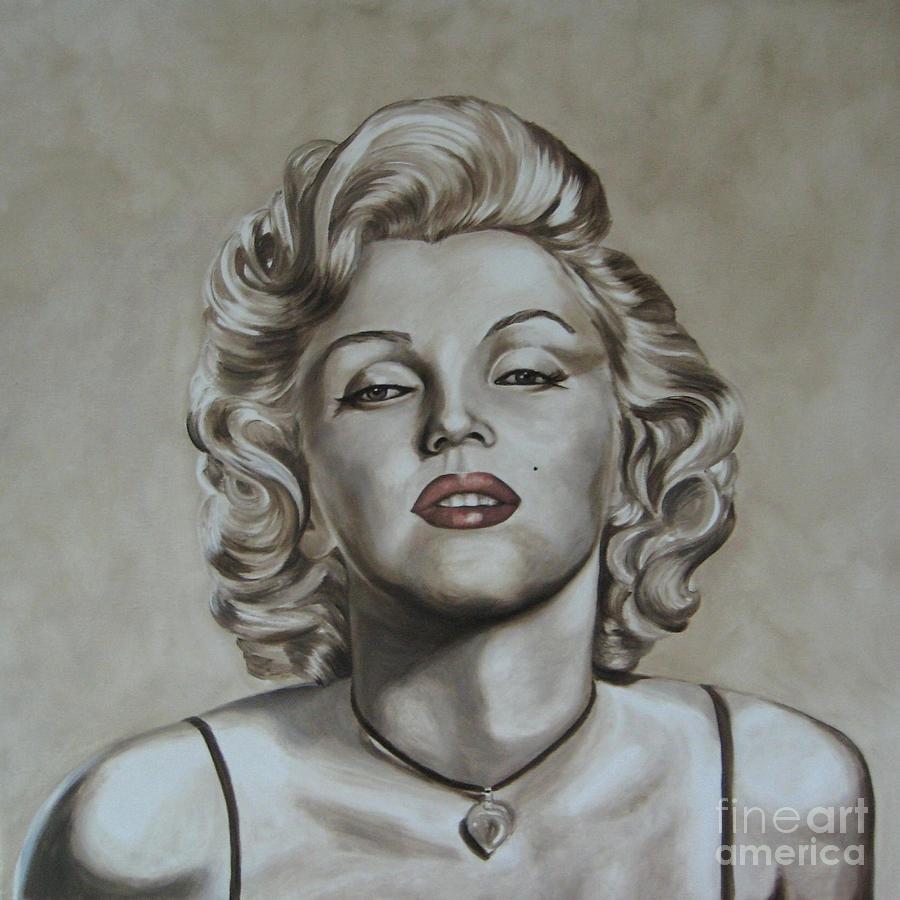 Oil Painting - Marilyn Monroe by Jindra Noewi