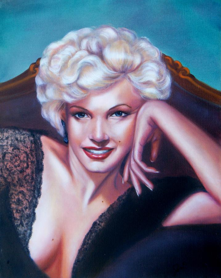 Portrait Painting - Marilyn Monroe by Joni McPherson