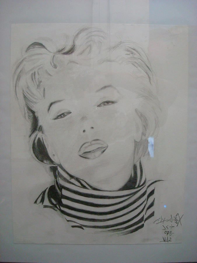 Marilyn Monroe Drawing - Marilyn Monroe by Jorge Luis  Iniguez