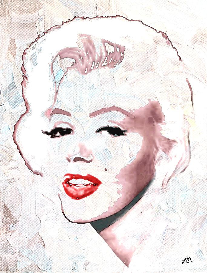 Marilyn Monroe Digital Art - Marilyn Monroe by Linda Mears