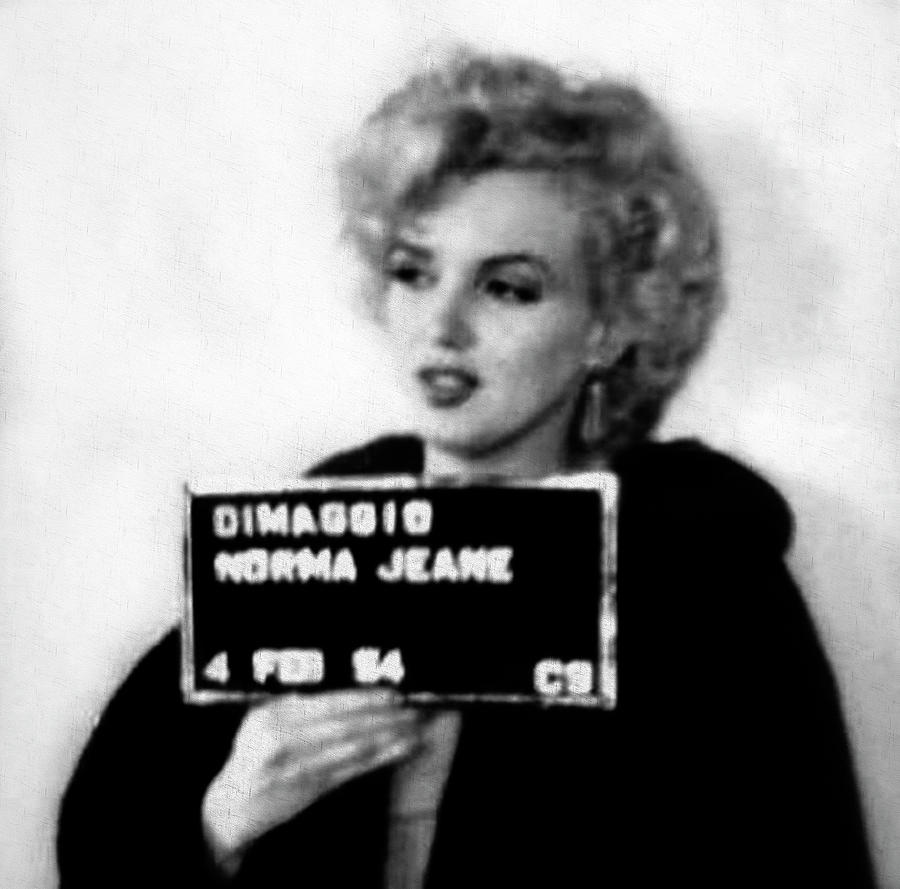14e80a4aa0e2 Marilyn Monroe Mugshot In Black And White Photograph by Digital ...