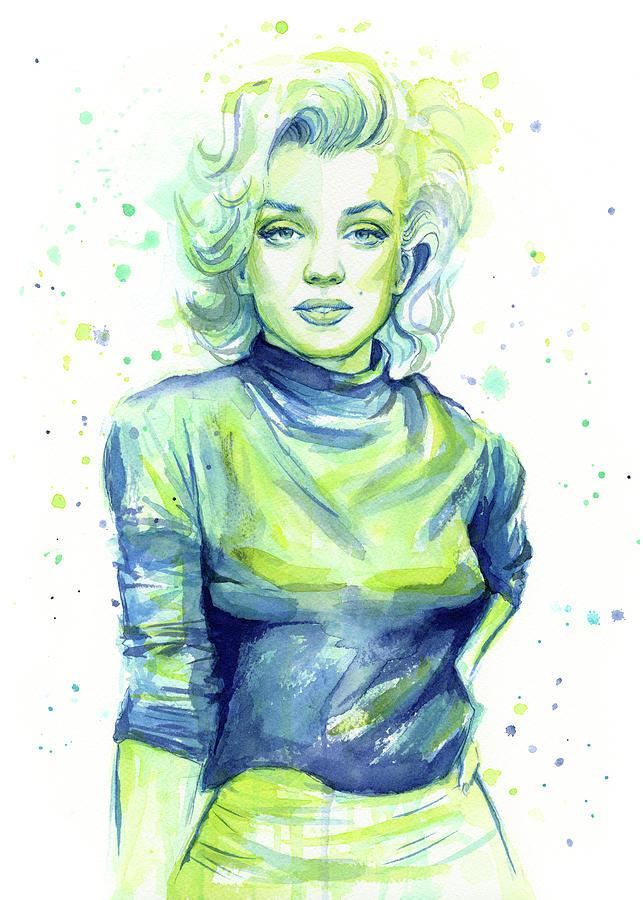 Iconic Painting - Marilyn Monroe by Olga Shvartsur