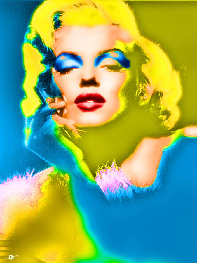Marilyn Monroe Photograph - Marilyn Monroe Pop by Tony Rubino