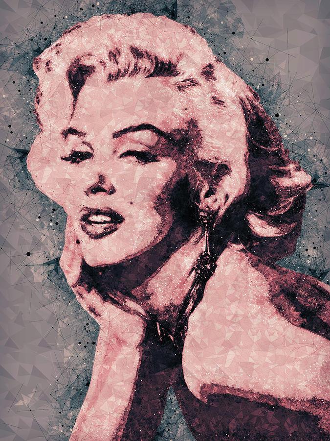 Marilyn Monroe Portrait Mixed Media