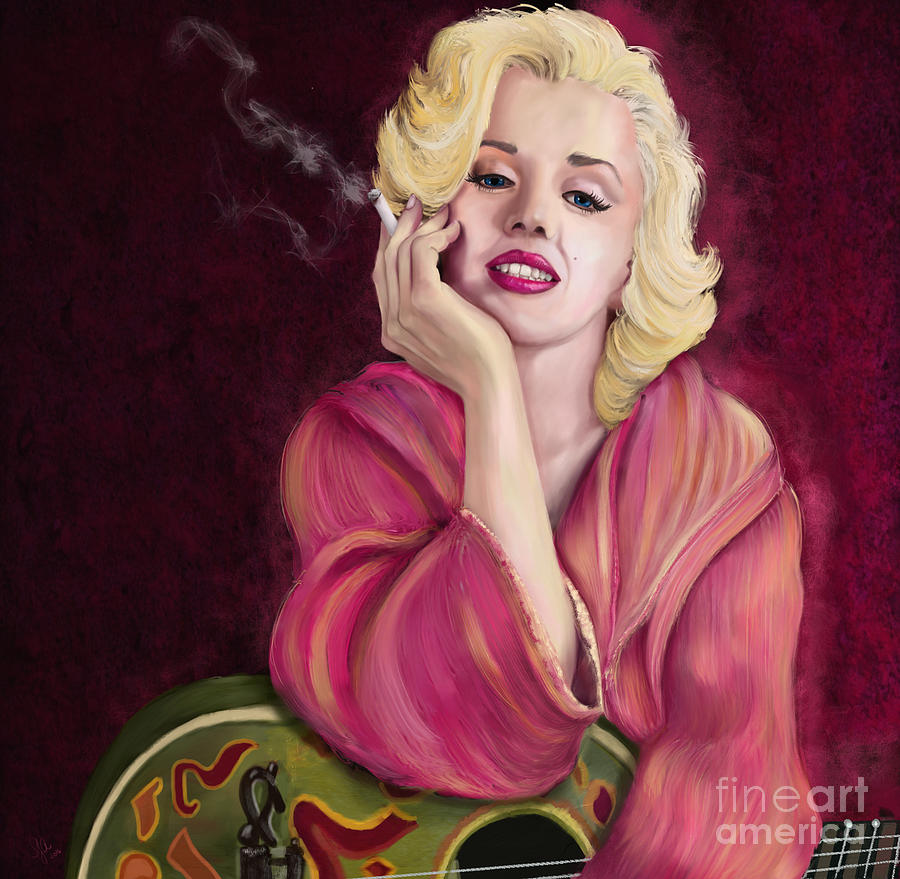 Marilyn Monroe Digital Art - Marilyn Monroe by Sydne Archambault