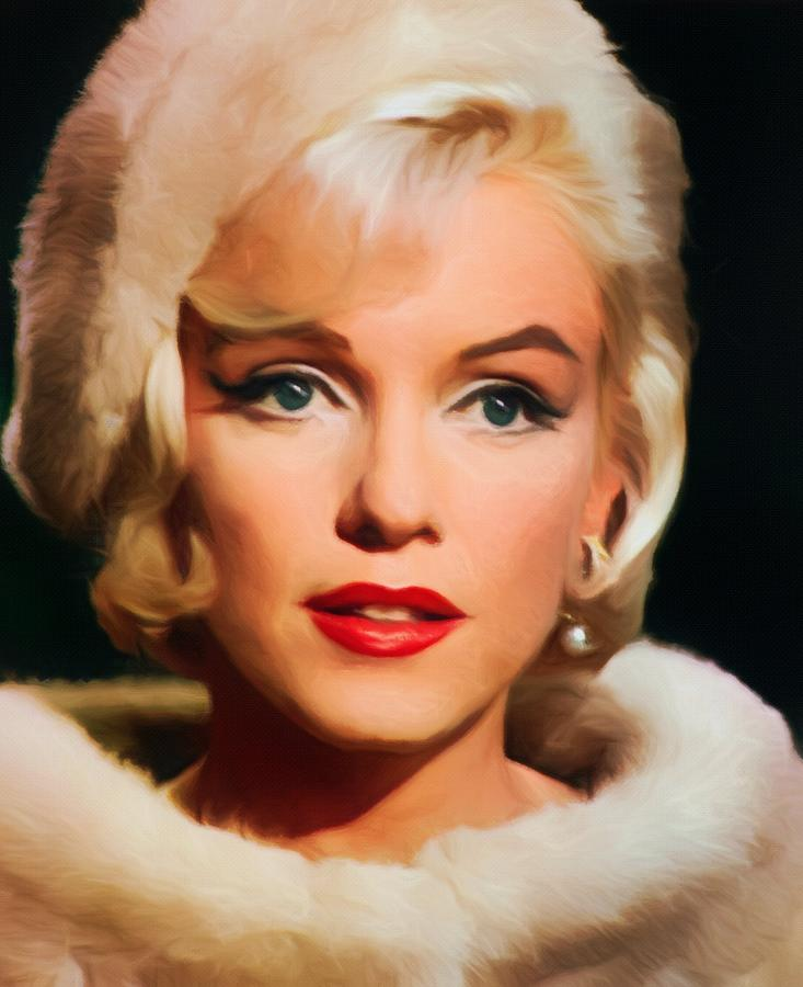 Marilyn Monroe Painting - Marilyn Monroe by Vincent Monozlay