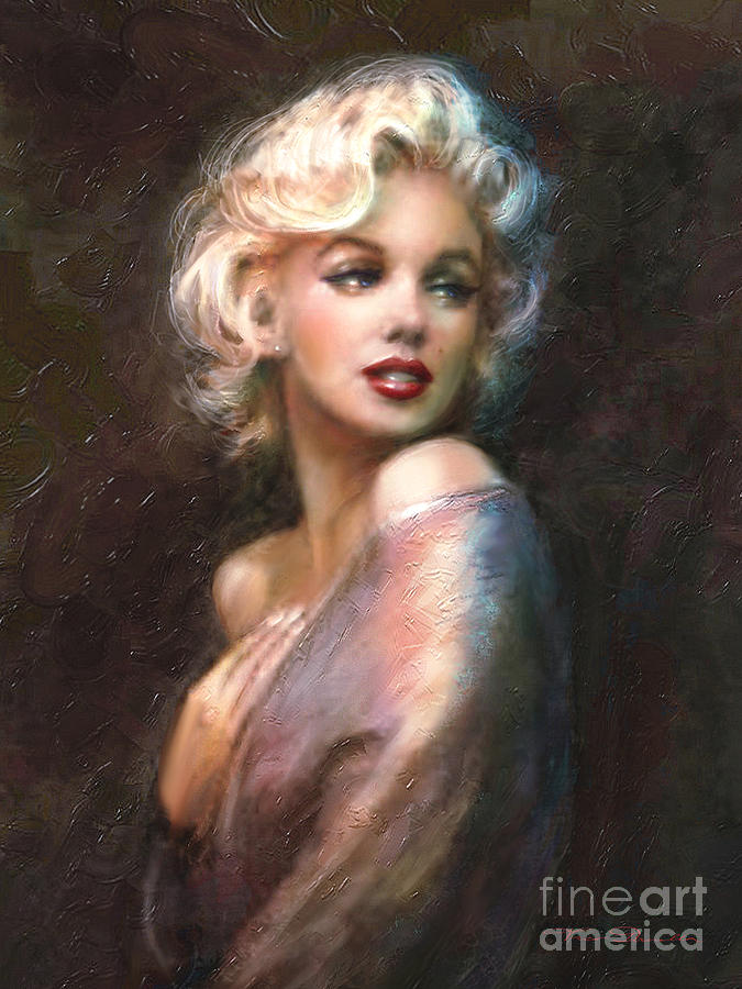 marilyn romantic ww 1 painting by theo danella. Black Bedroom Furniture Sets. Home Design Ideas