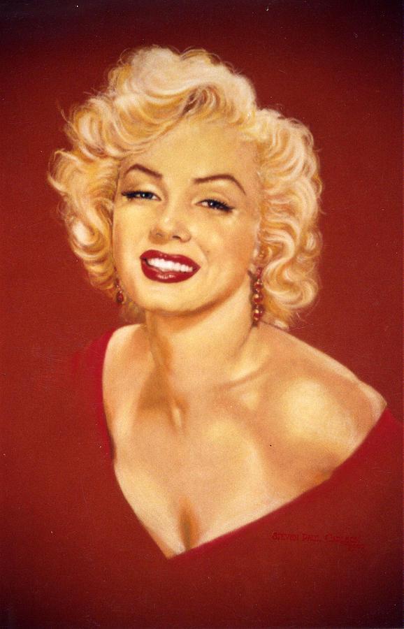 Marilyn Monroe Painting - Marilyn by Steven Paul Carlson