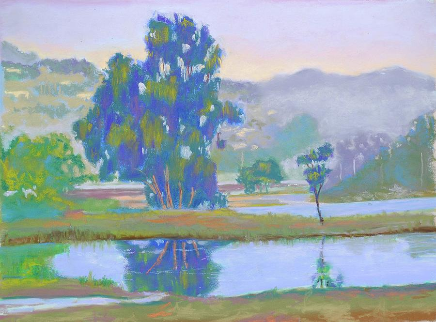 Landscape Painting - Marin Lagoon by Dan Scannell