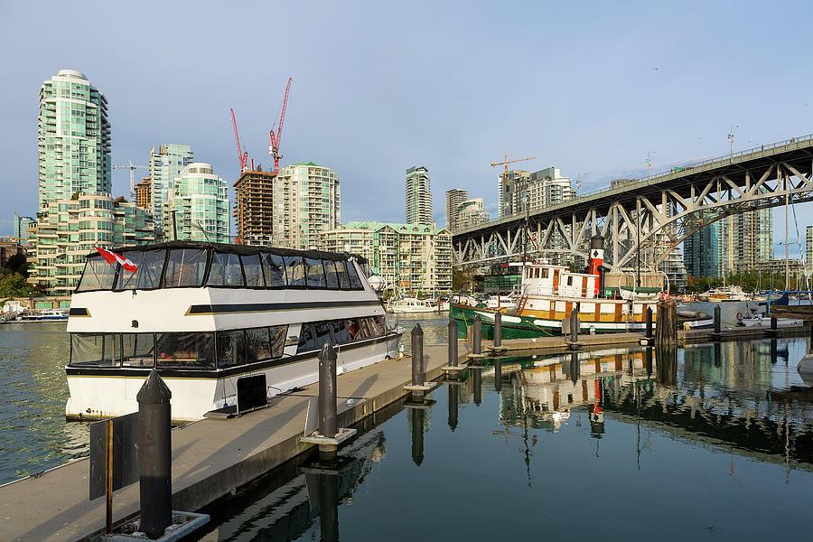 Marina Photograph - Marina at Granville Island in Vancouver BC by David Gn