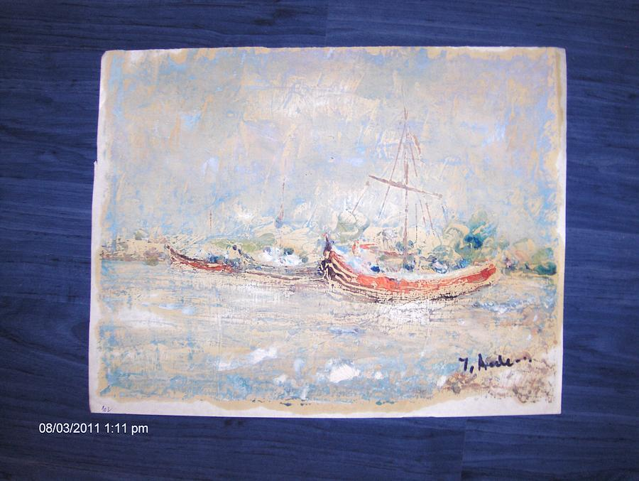 Marina Painting by Ilie  Ardeleanu