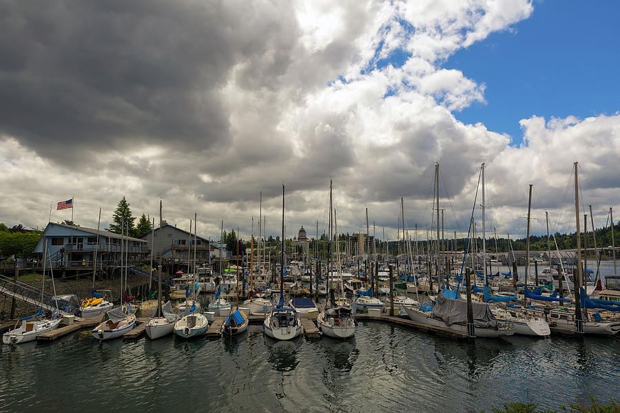 Olympia Photograph - Marina in Olympia Washington Waterfront by David Gn