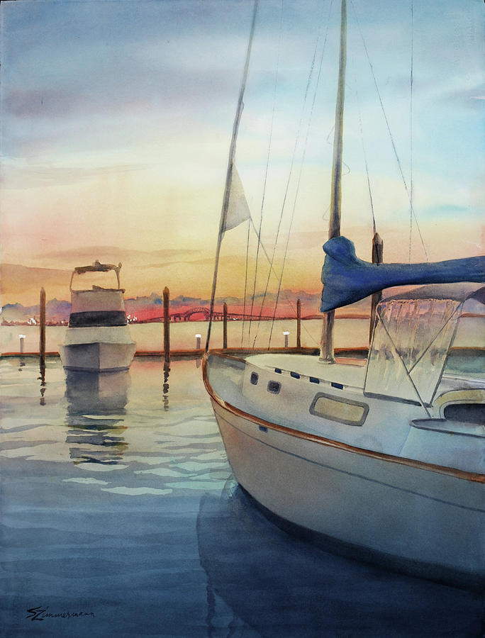 Marina Sunset by Sue Zimmermann