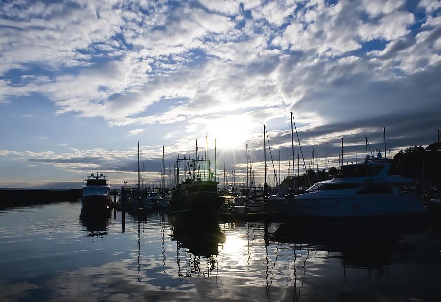 Seattle Photograph - Marina Sunset by Tom Dowd