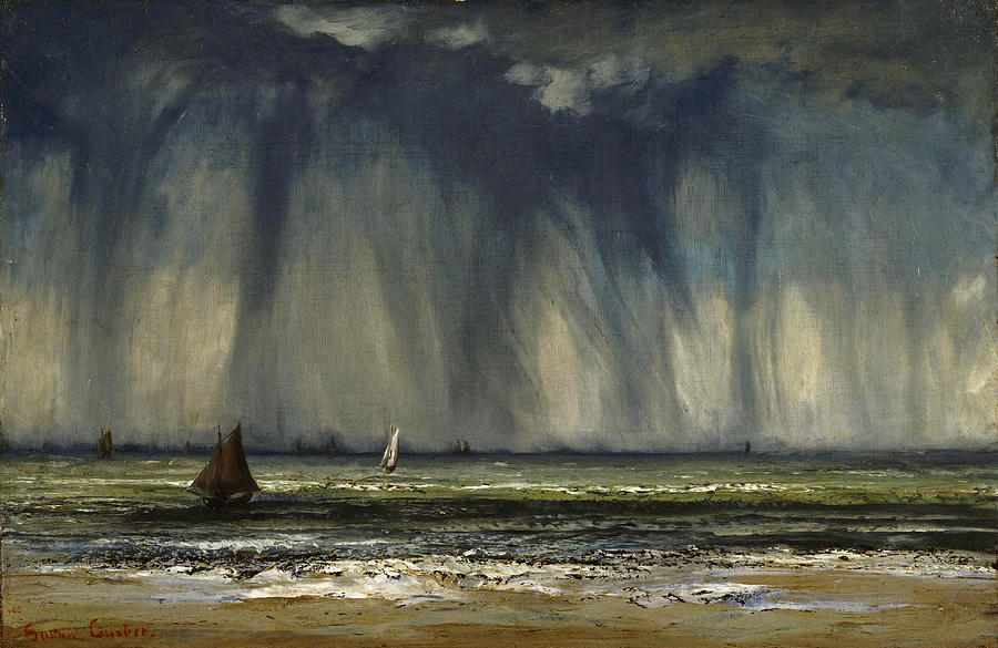Gustave Courbet Painting - Marine by Gustave Courbet