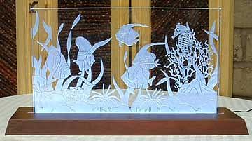 Marine Life Glass Art - Marine Life by Steven Straight