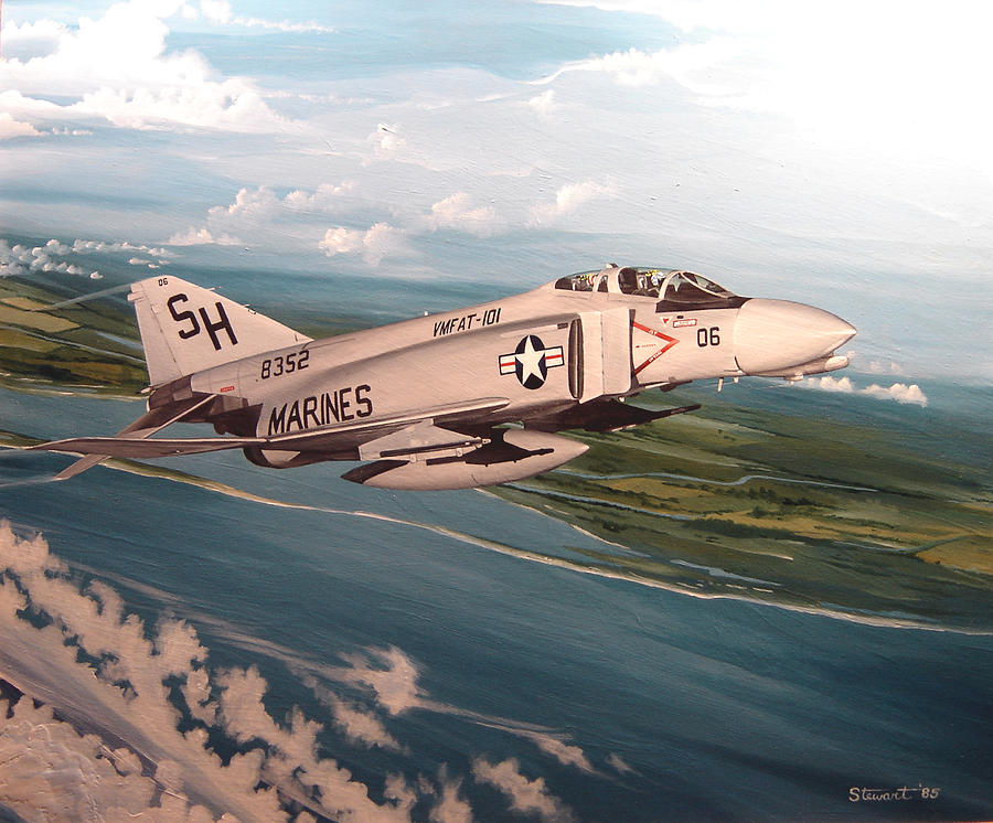 Aviation Painting - Marine Phantom by Marc Stewart