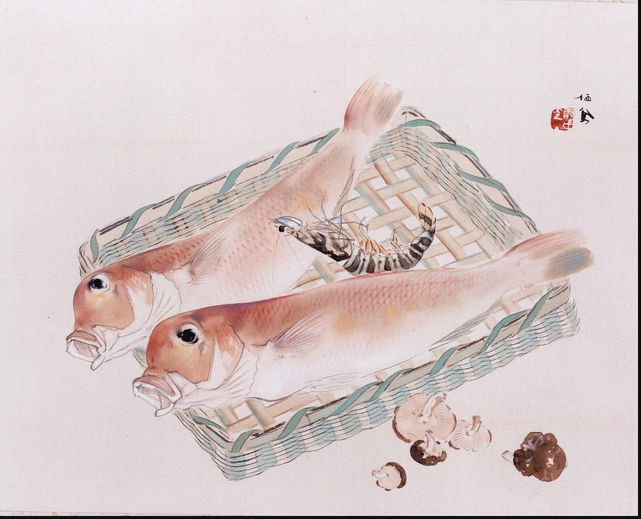 Autumn Painting - Marine Products  by Takeuchi Seih