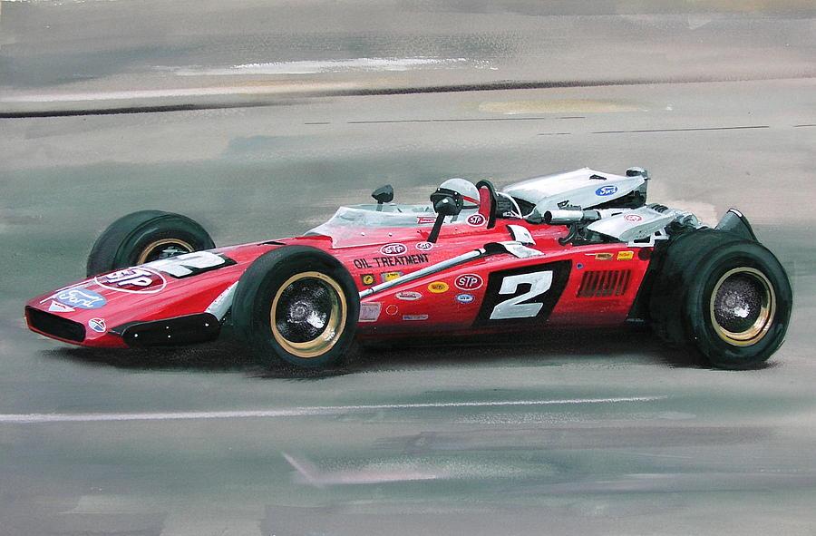 Mario Andretti Indy 500 Winner Painting By Steve Jones