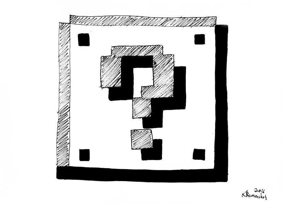 Super Drawing - Mario Block by Kayleigh Semeniuk