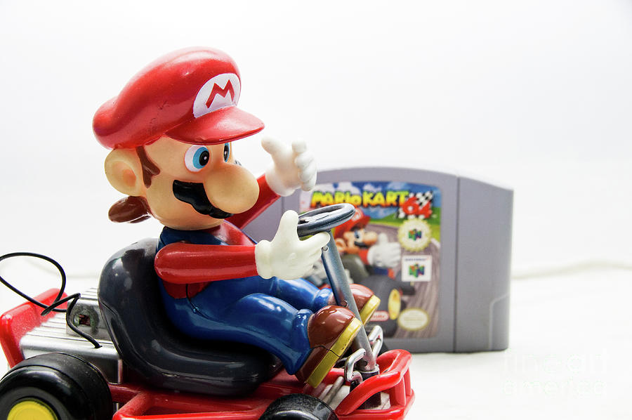 Mario Kart Toy Beside Mario Kart 64 Game Photograph By Arturo