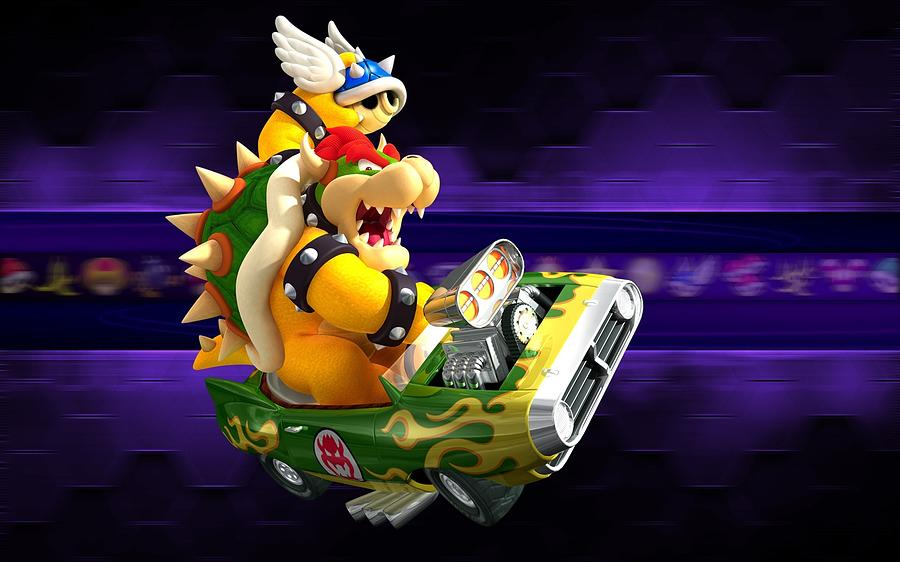 Decoration Digital Art - Mario Kart Wii by Dorothy Binder
