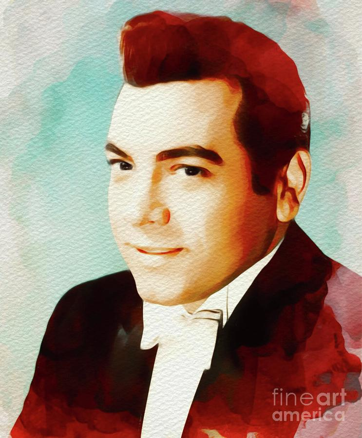 Hollywood Painting - Mario Lanza, Hollywood Legend by John Springfield