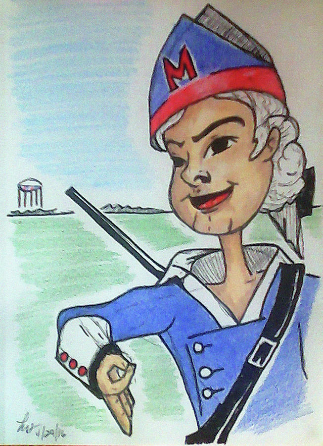 Patriots Drawing - Marion Jr by Loretta Nash