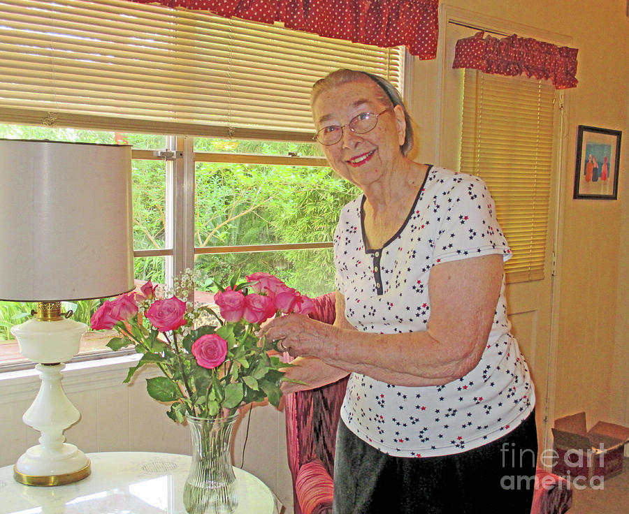 Roses Photograph - Marion Loves Roses by Fred Jinkins