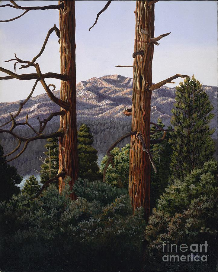Landscape Painting Painting - Marion Mountain At Sun Set by Jiji Lee