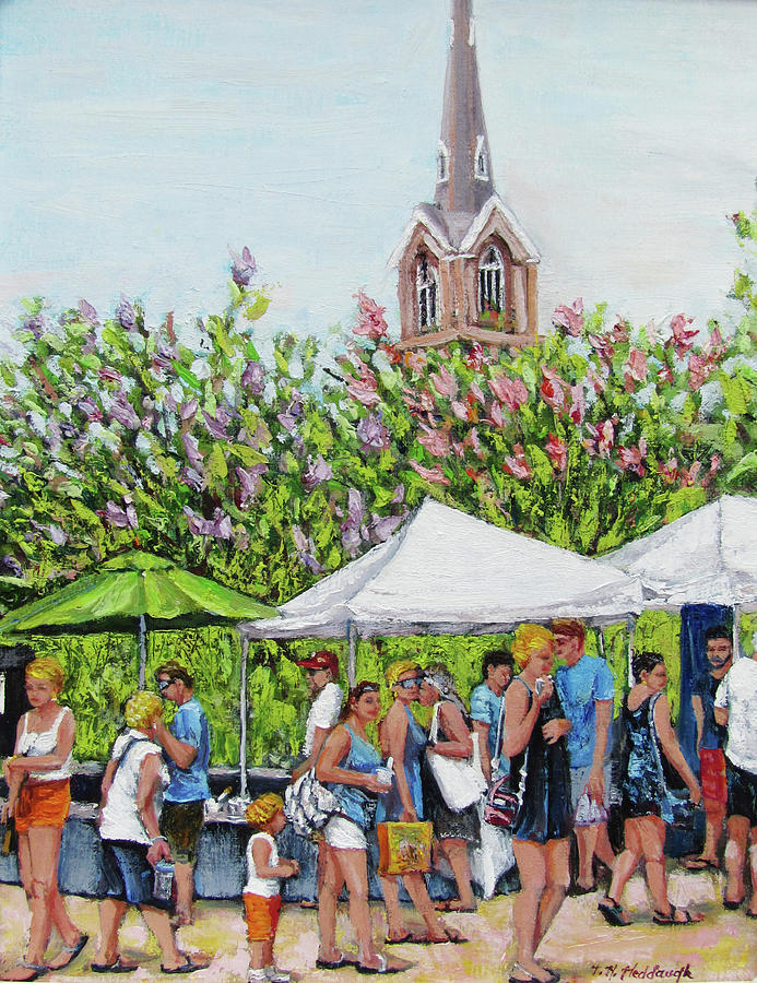 Marion Square Painting - Marion Square Market by Thomas Michael Meddaugh