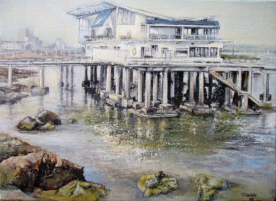Maritim Painting - Maritim Club Castro Urdiales by Tomas Castano