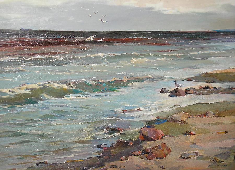 Sea Painting - Maritime Elegy by Alexandr Grigoryev-savrasov