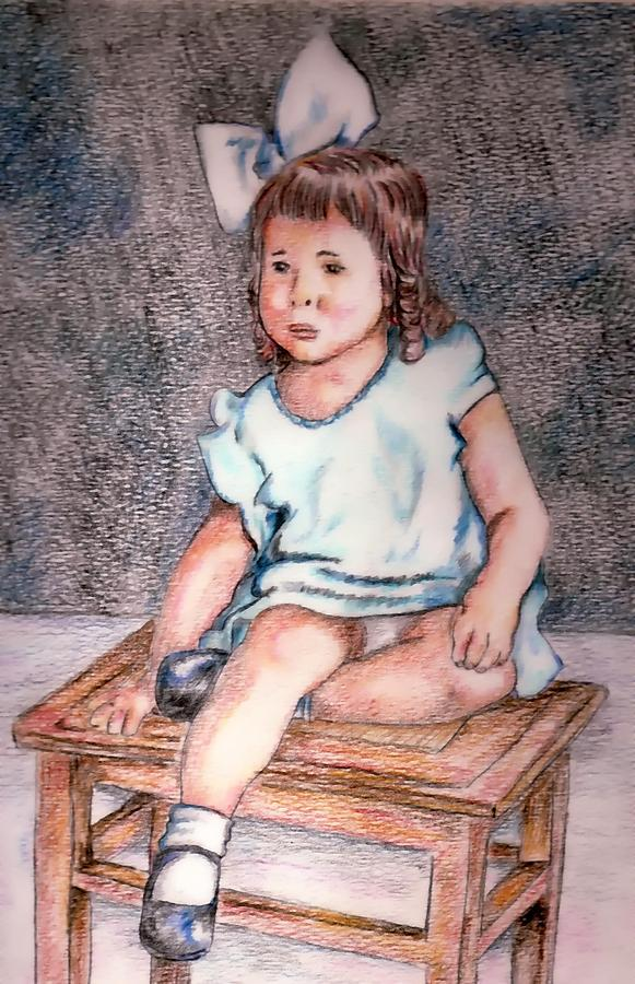 Girl Drawing - Marjorie by Denny Phillips