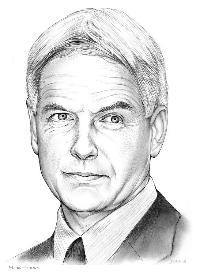 Mark Harmon Drawing