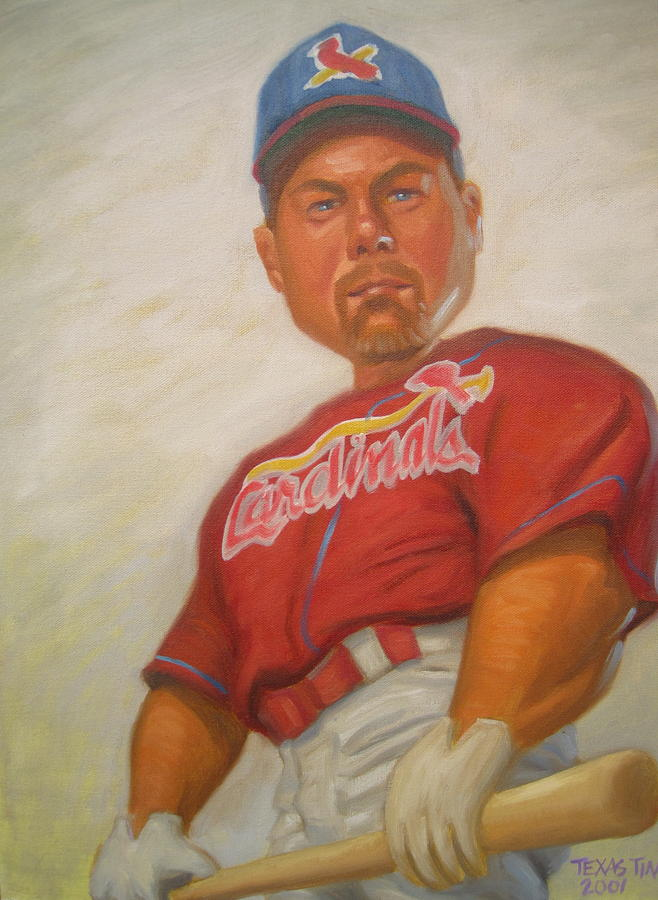 Mark Mcgwire Painting by Texas Tim Webb