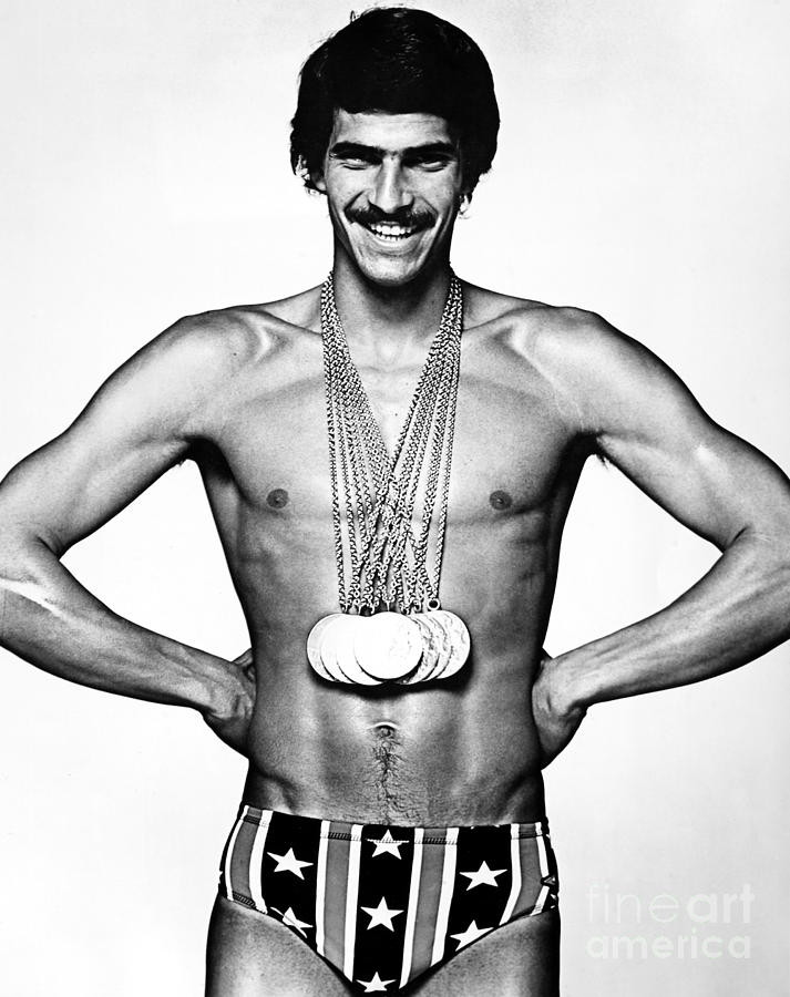 1972 Photograph - Mark Spitz (1950- ) by Granger