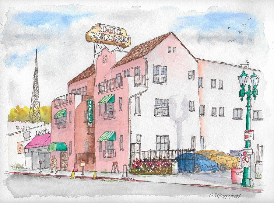Mark Twain Hotel in Hollywood, California by Carlos G Groppa