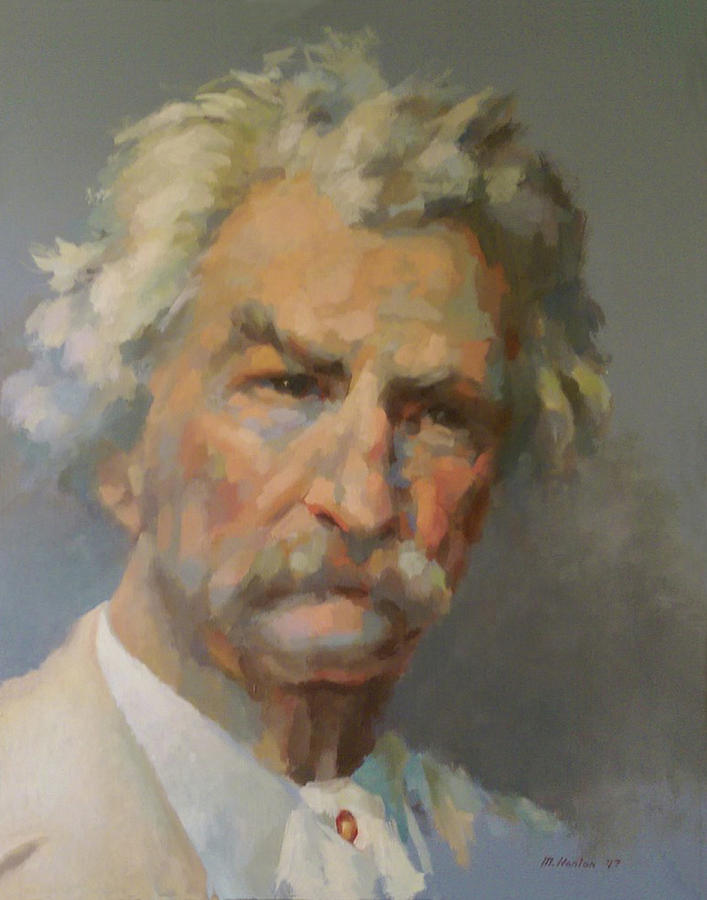 Mark Twain Painting - Mark Twain by Mike Hanlon